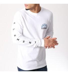 ELEMENT camiseta M.larga LENS blanca