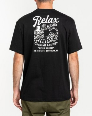 CAMISETA ELEMENT HOORAY SS NEGRA