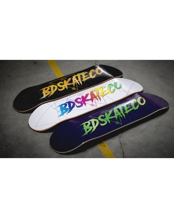 BDSKATECO skate deck Script Purple